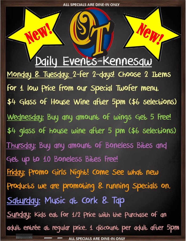 Kennesaw weekly events poster (2)