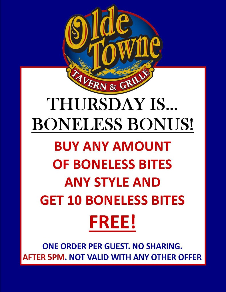 WINGSDAY SUMMER 2015 POSTER-THURSDAY BONELESS BONUS