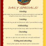 DAILY SPECIALS FOR LAWRENCEVILLE