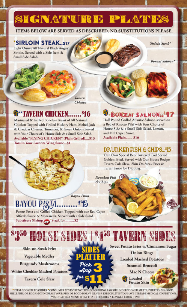 Olde Towne Tavern And Grillemenu Olde Towne Tavern And Grille
